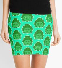 Buddha Vector Art Mini Skirt