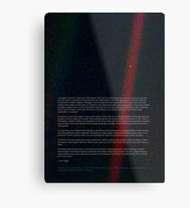 Pale Blue Dot - Voyager 1 ⛔ HQ quality Metal Print