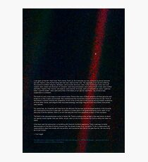Pale Blue Dot - Voyager 1 ⛔ HQ quality Photographic Print