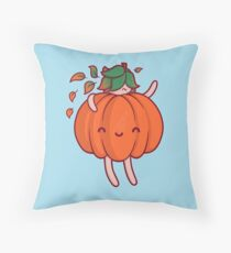 Pumpkin Sprite Throw Pillow