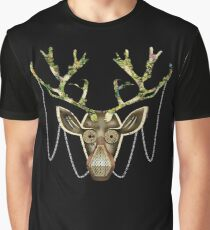 Steampunk Reindeer Graphic T-Shirt