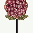 Art Deco Red Rose Blooming   by CecelyBloom