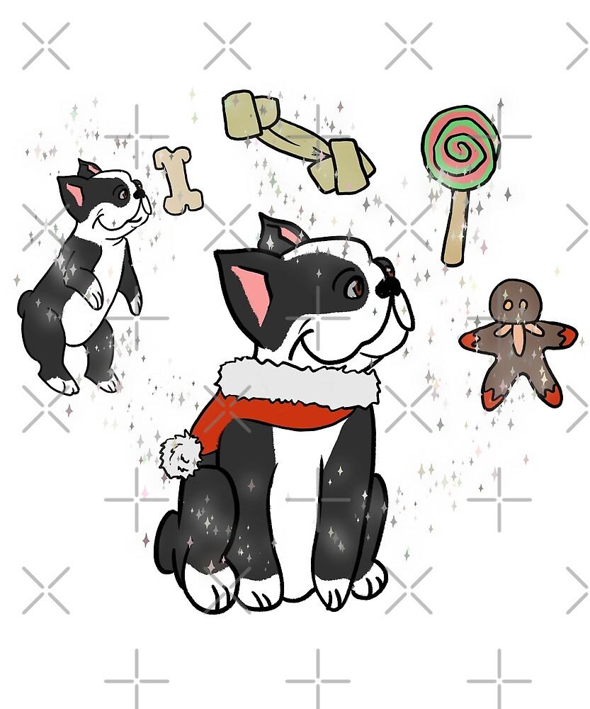 Funny Boston Terrier Merry Xmas Wishes Christmas\