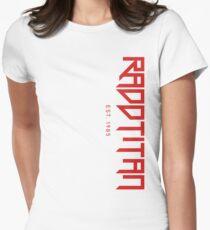 RaddTitan Logo side Red Women's Fitted T-Shirt