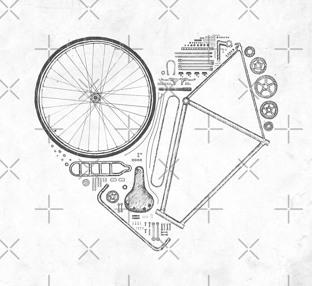 Liebe Fahrrad von Florent Bodart