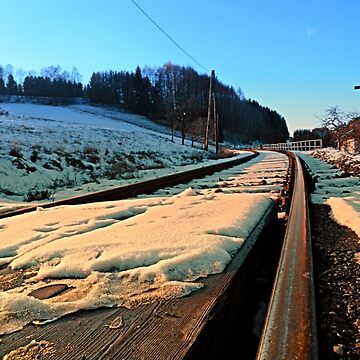Railroads in winter wonderland | landscape photography by patrickjobst