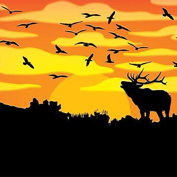 Flat wild life design by Melcu