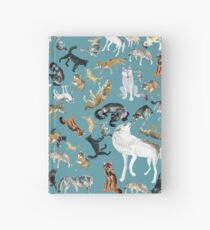 Wolves of the World pattern 2 Cuaderno de tapa dura