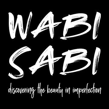 Wabi Sabi white hand lettering by beakraus