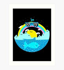 Rainbow Space World Art Print