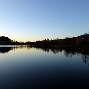 Indian summer sunset at the fishing lake IV   waterscape photography by patrickjobst