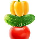 Colorful vegetables pyramid by 6hands