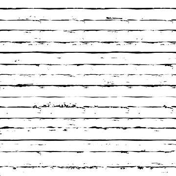 Striped pattern seamless irregular hand drawn background by amovitania