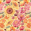 Happy Boho Sixties Floral by micklyn