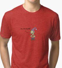 Hi, I'm Elfo! (Disenchantment) - Black Tri-blend T-Shirt