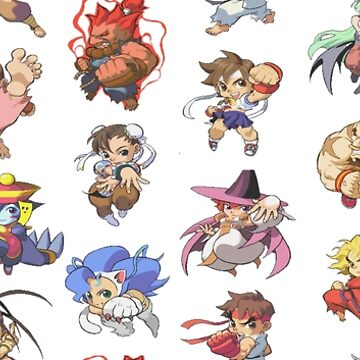 Pocket Fighter Characters by DucktuR