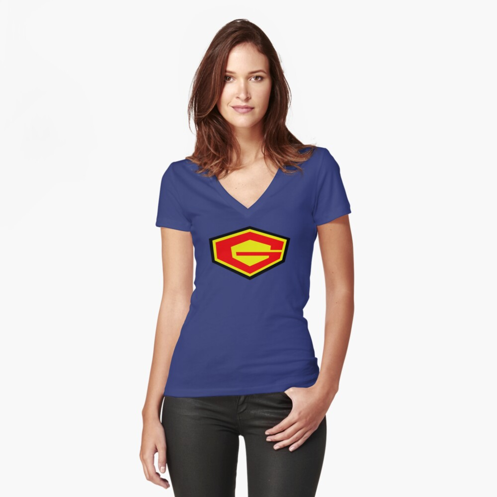 G Force Fitted V-Neck T-Shirt