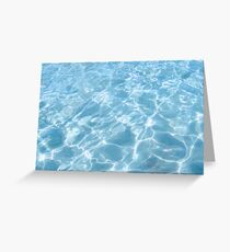 blue fountain Greeting Card