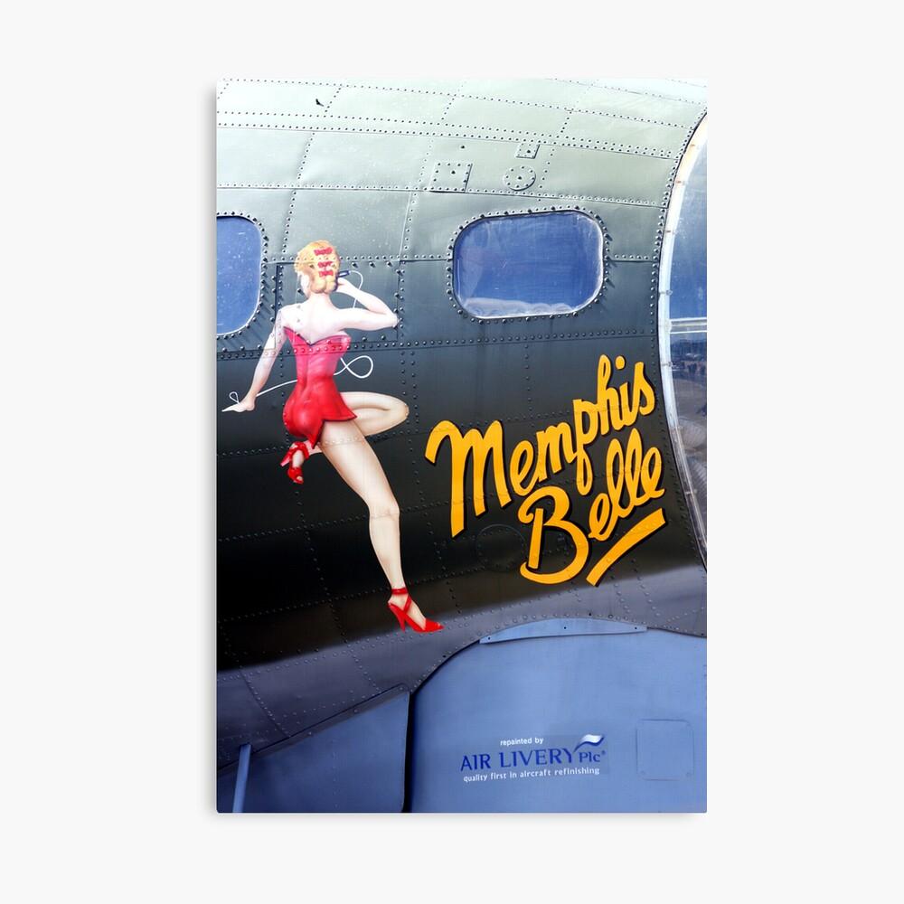 Memphis Belle Nose Art Canvas Print
