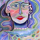 Blue lady by Karin Zeller