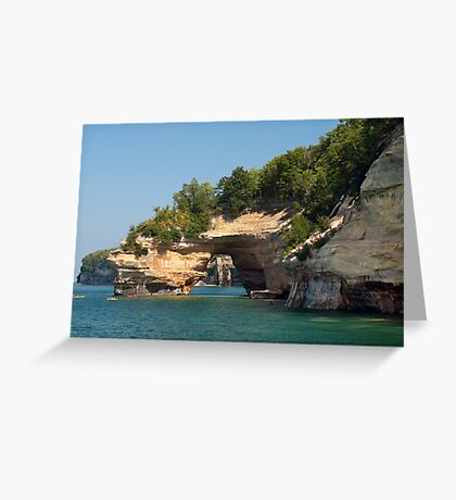 Painted Rocks Tunnel Greeting Card