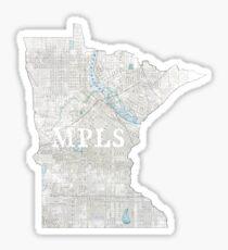 Faded Minneapolis Sticker