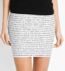 Lorem Ipsum Mini Skirt