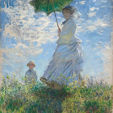 Monet - Woman with a Parasol - Classic Art by EclecticWarrior
