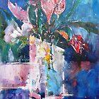 Tulips Flowers Abstract Art by Ballet Dance-Artist
