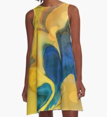 Wings of the Dove Abstract A-Line Dress