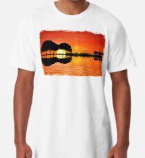 Camiseta larga puesta de sol de la isla