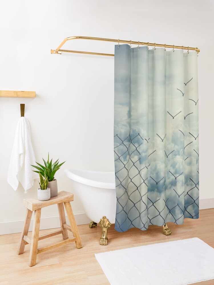 Alternate view of Magical ecape  Shower Curtain
