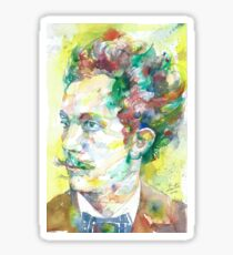 RICHARD STRAUSS - watercolor portrait.2 Sticker