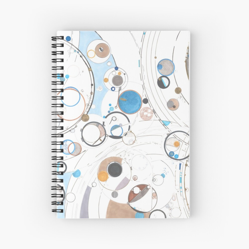 Scattering Events Spiral Notebook