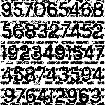Numbers pattern by Melcu