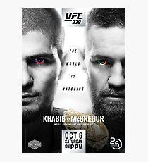UFC 229: Khabib vs McGregor Official Event Poster (HQ) Photographic Print