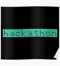 Retro Screen Hackathon Hack Coder Hacking Poster