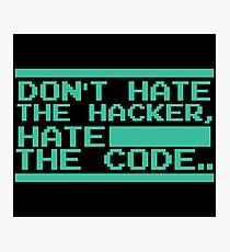 Retro Screen Hack Coder Hacking Code Photographic Print