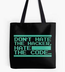 Retro Screen Hack Coder Hacking Code Tote Bag
