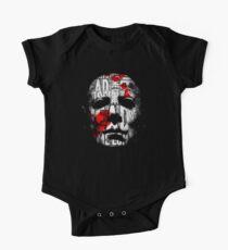 Body de manga corta para bebé Tipografía de la máscara de Halloween