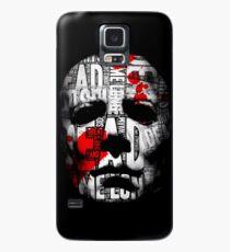 Halloween Mask Typography Case/Skin for Samsung Galaxy