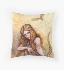 Celemon, Daughter Of Cei Throw Pillow
