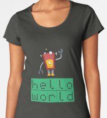 Retro Coding Kids Robot Science Award Women's Premium T-Shirt