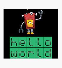 Retro Coding Kids Robot Science Award Photographic Print