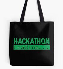 Hackathon Loading Green Retro Coder Type Tote Bag