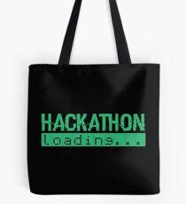 Hackathon Loading Green Retro Coding Code Tote Bag
