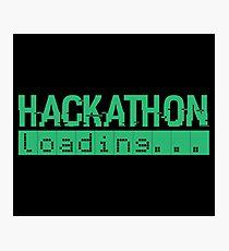 Hackathon Loading Green Retro Coding Code Photographic Print