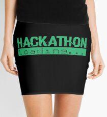 Hackathon Loading Green Retro Coding Code Mini Skirt