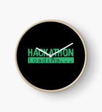 Hackathon Loading Green Retro Coding Code Clock