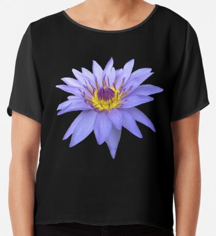 wunderschöne, blaue Seerose, Blume, Blüte, Sommer Chiffontop